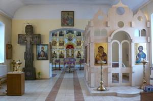 внутренний вид храма.